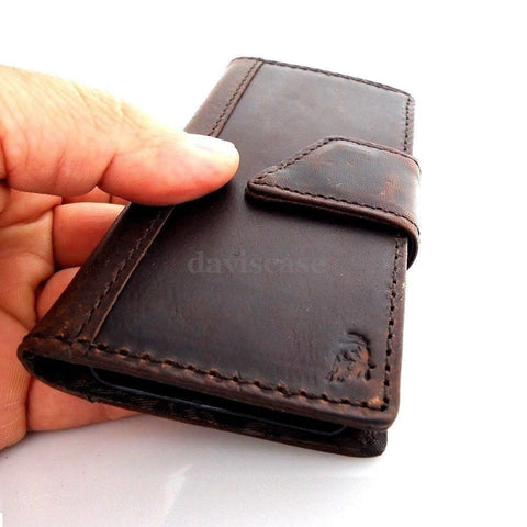 Case genuine Leather Cover Nokia Lumia 1020 Pouch Wallet Phone skin Flim Clip uk free shipping