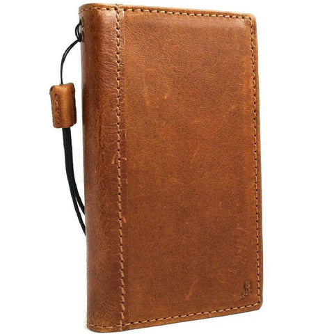 Genuine leather Case for Samsung Galaxy S10e book wallet cover Cards wireless charging Tan luxuey pro slim daviscase