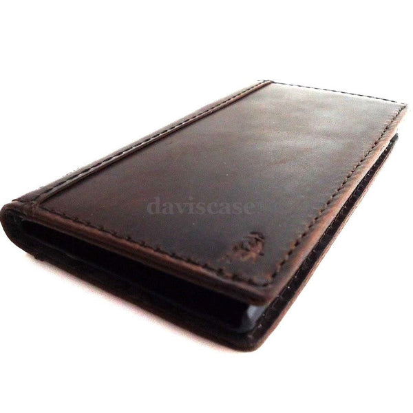 genuine vintage leather Case for Samsung Galaxy S4 s 4 book wallet handmade slim au retro