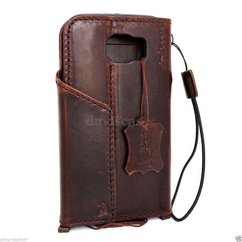 genuine full leather Case for Samsung Galaxy S6 book wallet luxury cover s Business