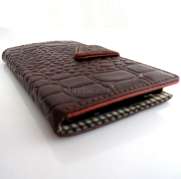 genuine full leather Case For Samsung Galaxy Note 2 book wallet handmade close crocodile art free shipping