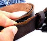 Genuine full Leather belt 43mm mens womens Waist handmade classic for size M new