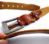 "Genuine buffalo Leather belt mens Waist classic big size 2xl 3xl 52"" 50"" 48"" 46"""