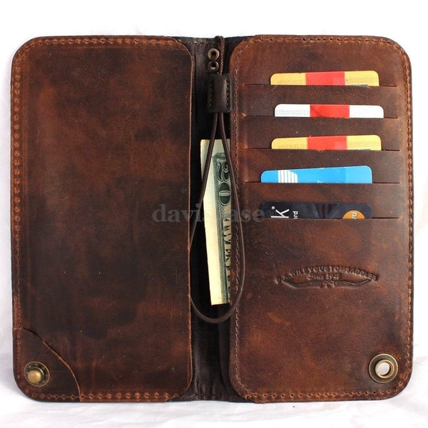 genuine italy leather case for iphone 6 cover book wallet credit card magnet luxurey slim flip free shipping