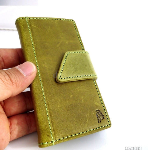 genuine vintage leather case for iphone 4s cover purse s 4 stand book wallet green apple