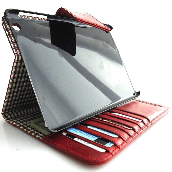 genuine real Leather Bag for iPad 4 3 2 case cover handbag apple CLOSE magnet id free shipping !