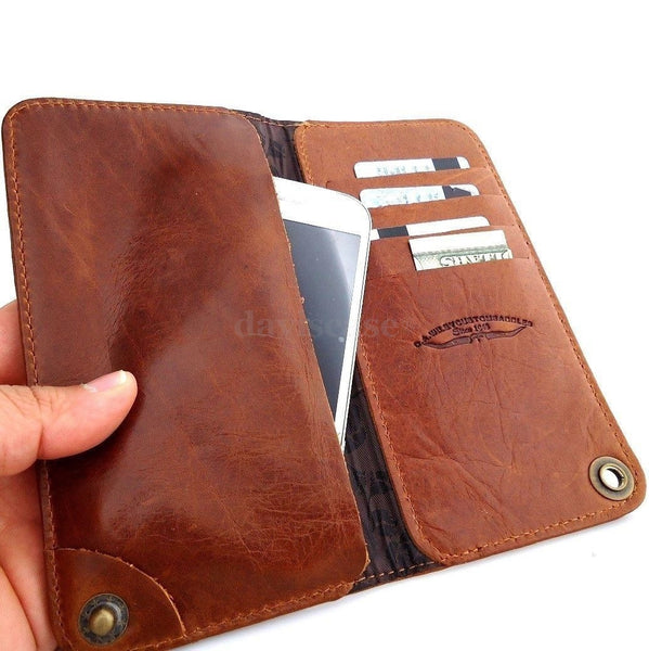 genuine natural leather case for samsung galaxy NOTE 2  3  cover purse pouch book wallet stand GANOTE2b