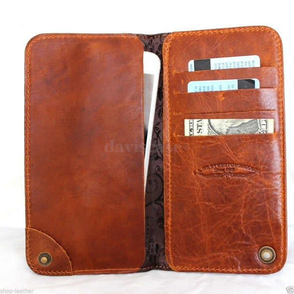 genuine italy leather case for iphone 6 plus cover book wallet credit card id magnet business slim flip free shipping  oi