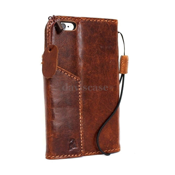 genuine italian leather case for iphone 6  4.7 cover book wallet credit card premium
