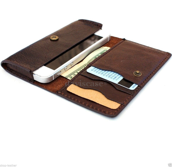 genuine italian leather case for iphone 5s 5c 5 hard cover soft wallet credit card c s flip handmade luxury !