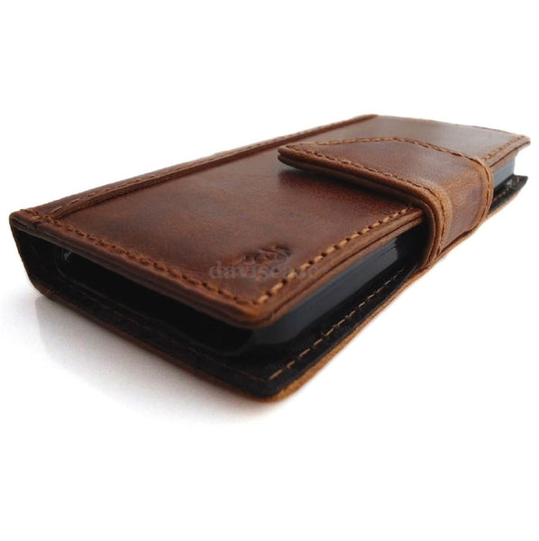 genuine leather case for iphone 5 C book wallet cover new handmade cards slim sm