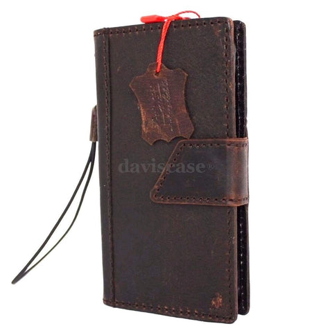 genuine italian leather Case fit for Samsung Galaxy S5 active s 5 SM-G870A book wallet handmade il
