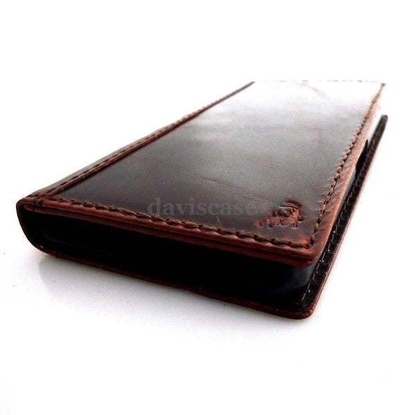 genuine real vintage leather Case Fit sony Xperia Z2 book wallet 2 z handmade ta