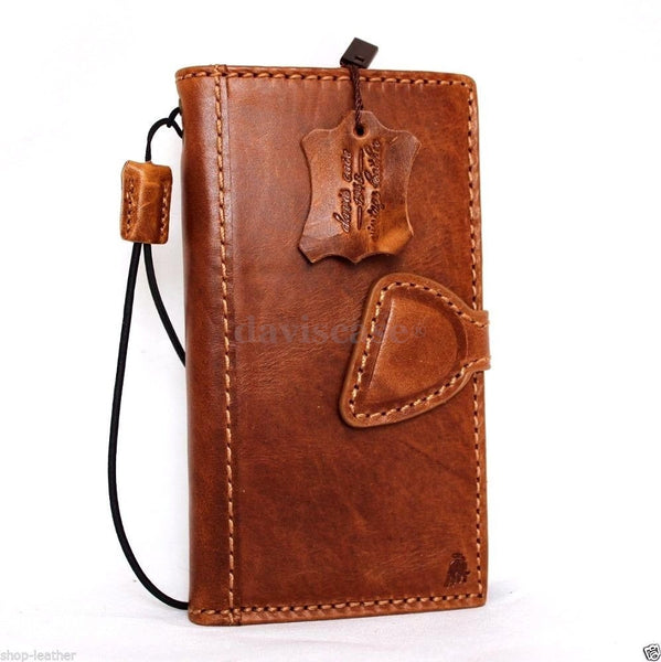 genuine FULL leather Case for Samsung Galaxy S6 Edge book wallet luxury cover s Business