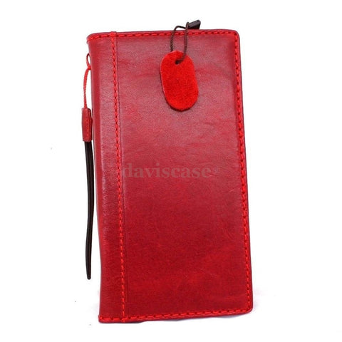 genuine italy real leather case for iphone 6 plus cover book wallet band credit card id business slim flip free shipping red