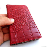 genuine leather Case Fit Samsung Galaxy Note II 2 book stand wallet handmade crocodile Model R