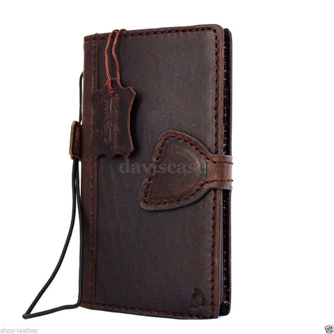 genuine real leather Case for Samsung Galaxy S6 book wallet luxury cover s Business