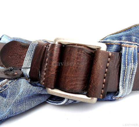 Genuine full Leather belt 43mm mens womens Waist handmade classic 60's b size XL