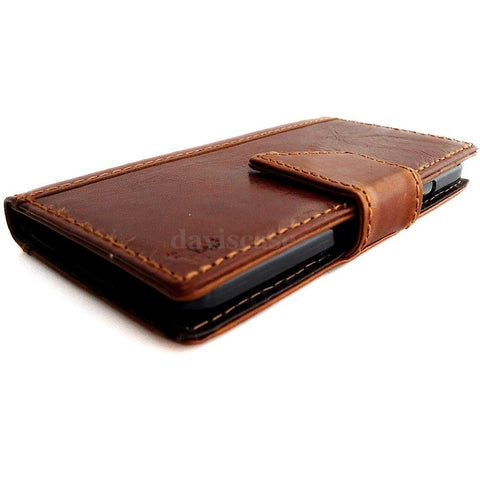 genuine vintage leather case for samsung galaxy s5 cover purse book pro wallet stand TA