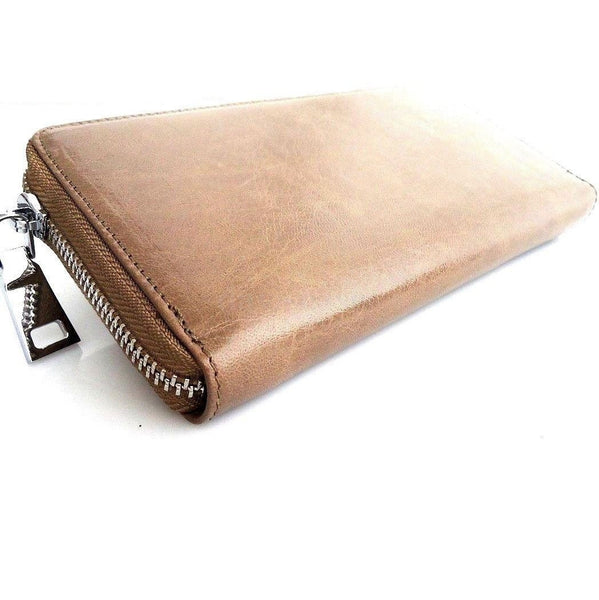 Genuine leather woman purse tote wallet zipper Coins credit Money Handbag id free shipping TA