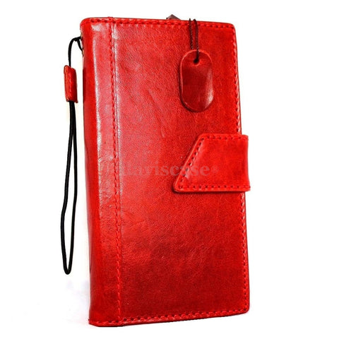 genuine italian real leather case for iphone 6 plus cover book wallet band credit card id magnet business slim flip free shipping red
