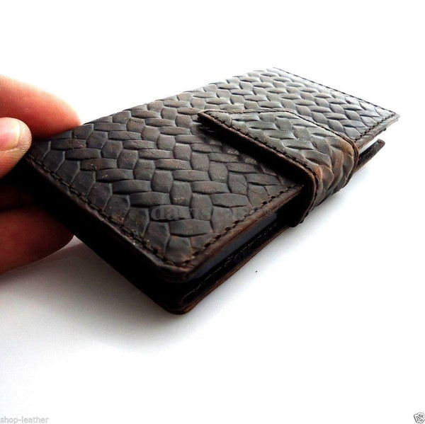 genuine full leather case for iphone 5s 5c 5 cover book wallet credit card c s magnet