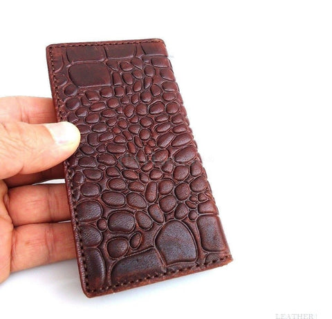 genuine leather case fit iphone 4s s 4 book wallet handmade 4s crocodile model R