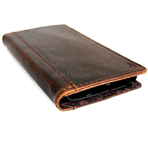 genuine leather Case for Samsung Galaxy Note II 2 book wallet handmade slim luxury ID free shipping