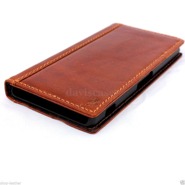genuine real 100% leather Case Fit sony Xperia Z2 book wallet 2 z handmade TA