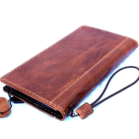 genuine italy leather case for iphone 6 plus cover book wallet band credit card id magnet business slim flip free shipping  uk