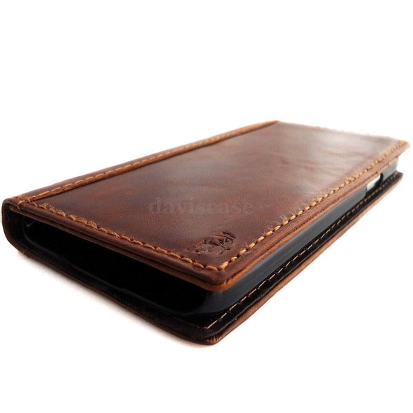 genuine vintage leather case fit samsung galaxy s5 cover purse book pro wallet stand free shipping TA