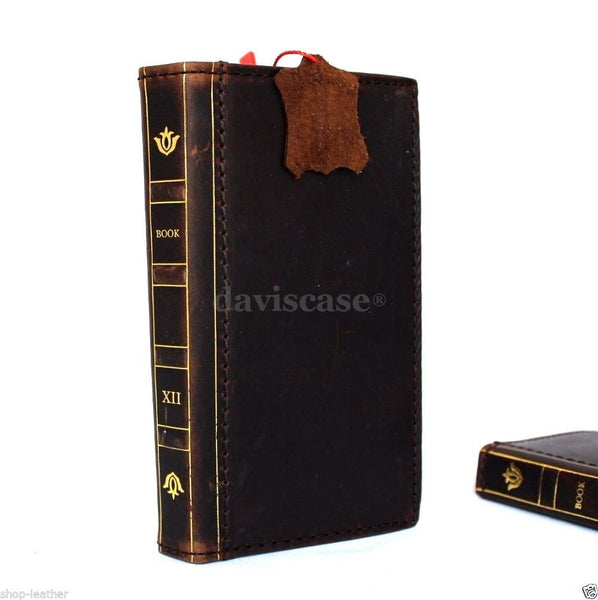 genuine natural leather hard case for Galaxy NOTE 4 LEATHER CASE  handmade cover book pro wallet Bible