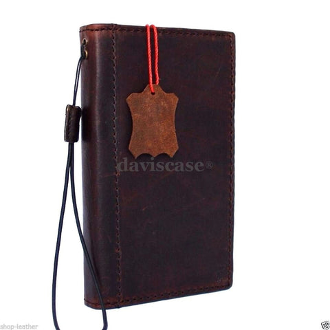 genuine natural leather hard case for Galaxy NOTE 4 LEATHER CASE  handmade cover book wallet davis R
