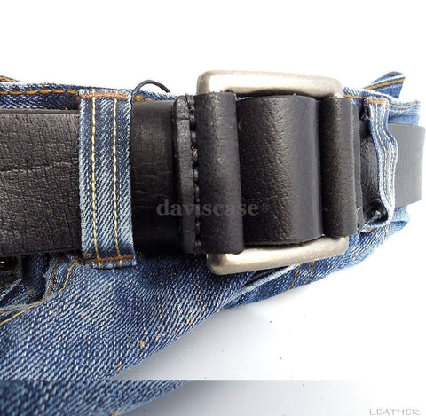 Genuine full Leather belt 43mm mens womens Waist handmade classic 60' s b size m