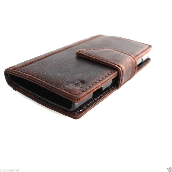 genuine italy leather case for nokia lumia 920 cover book wallet credit card magnet luxurey