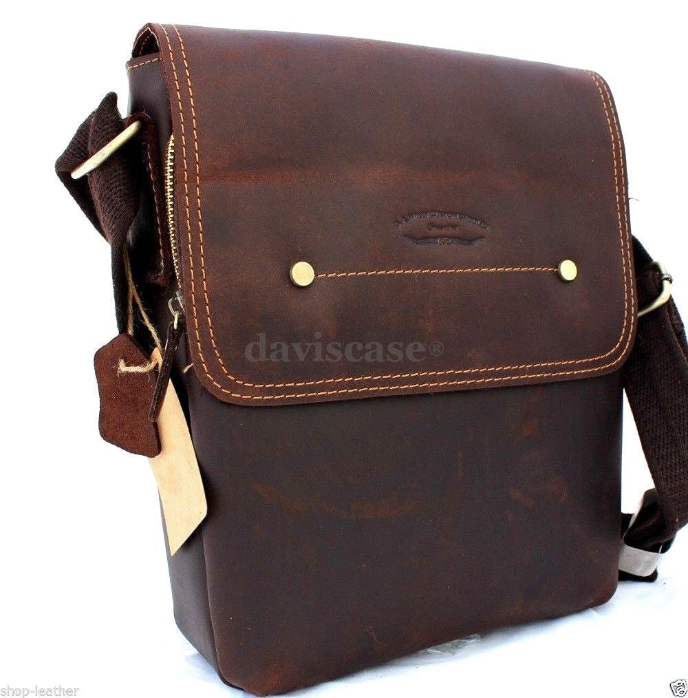 e640a45df197 Genuine vintage leather mens bag messenger for ipad air shoulder satchel  school free shipping jpg 1000x1014