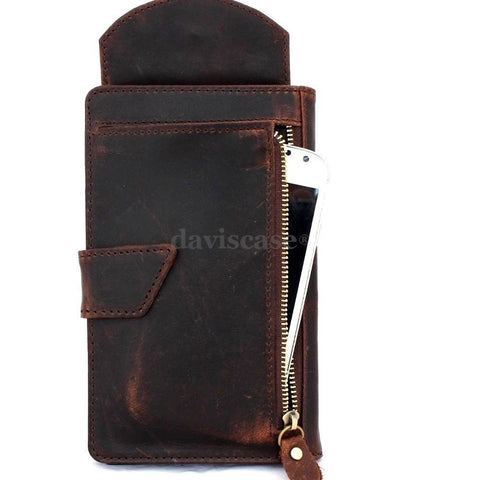 genuine leather Case for htc one m9 and apple iphone 6 plus + galaxy note 4  3 soly z3 z4 book wallet cover luxury