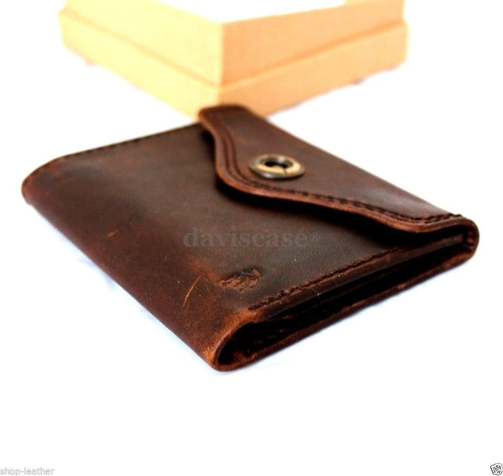 d42fa03b2b8 ... Men Money Clip Genuine Leather wallet gents Coin Pocket Purse Pouch  used style R ...