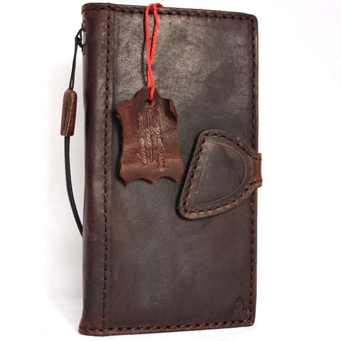 Genuine italian leather iPhone 6 6s safe case cover with wallet credit holder
