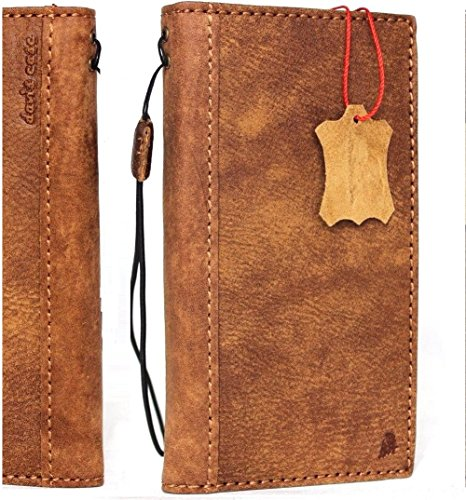 finest selection 3d124 641a4 Genuine vintage leather case for oneplus 5 book wallet cover slim handmade  Suede brown style cards slots slim daviscase