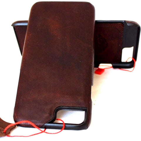 Genuine REAL natural leather iPhone 7 case cover wallet  holder book luxury retro