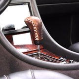 genuine leather knob Gear car Shift Shifter Lever handmade Collectibles for mercedes benz mb sl clk slk cl Lever
