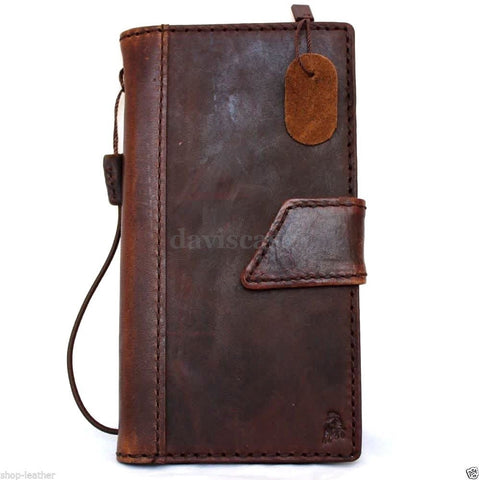 genuine italy leather case for iphone 6 plus cover book wallet credit card id magnet business luxury slim flip free shipping  IL
