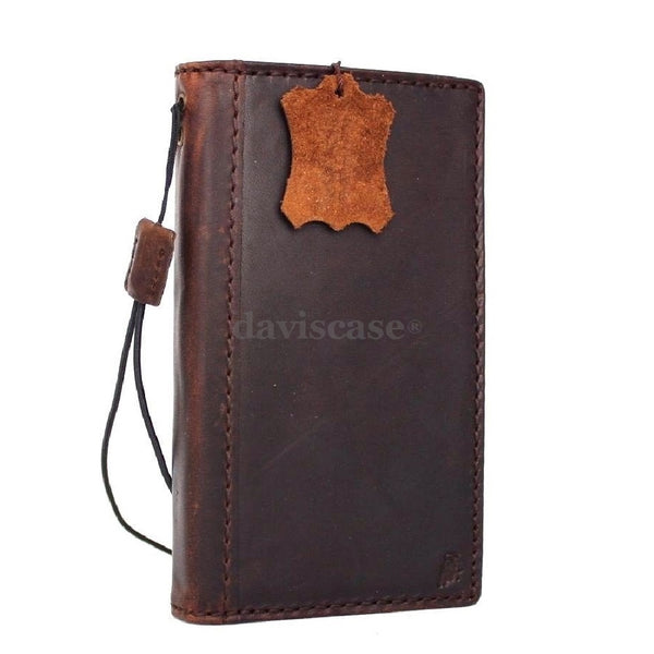genuine natural leather case for samsung galaxy s5 hard cover purse s 5 wallet stand luxury business