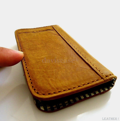 genuine Buffalo real leather Case for sony xperia z book wallet handmade id