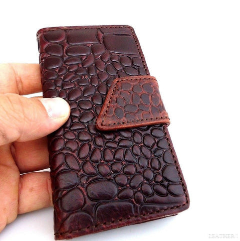 genuine real leather case for iphone 4s cover s 4 book wallet card slot crocodile Model
