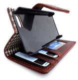 genuine leather pro case for iphone 5 5S book wallet cover crocodile Model handmade skin
