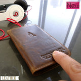 genuine leather case book wallet cover stand pouch sII s2 fit galaxy S II i9100