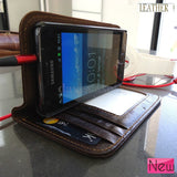 genuine leather case for Samsung book wallet cover stand pouch galaxy sII s2 id