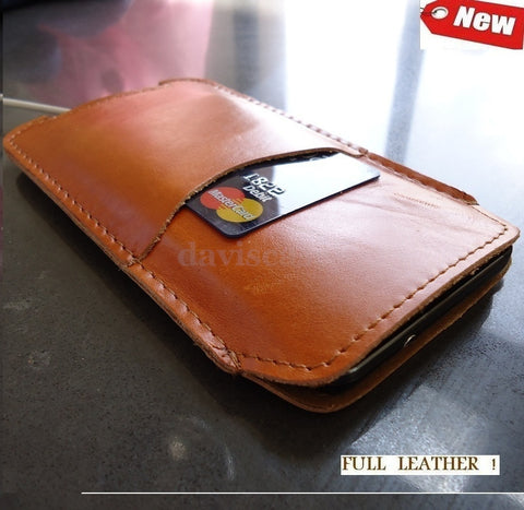 genuine full real leather Case cover fit Samsung Galaxy Asus PadFone 2 pull ID